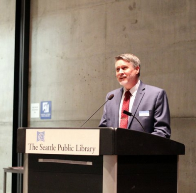 Tom Fay of Director of Library Programs and Services at The Seattle Public Library