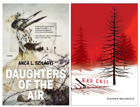 2 Book covers: Daughters of the Air and Bad Call